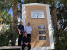 Bak fra venstre: Kenneth Larsen, Tage Lien og Jon Arne Løkke på Miami Beach