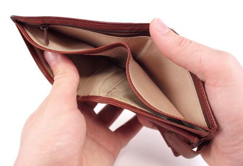 Bilde av tom lommebok